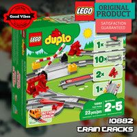 LEGO 10882 Train Tracks DUPLO Mainan Kereta Api Anak Original #thekingbricks #theking #thekingid #kingbricks #gvonline #uhappyihappy #tokolegoterpercaya #tokomainanoriginal #lego10882 Lego Duplo Sets, Train Tracks, Lego City, Lego Star Wars, Avengers, The Originals, The Avengers