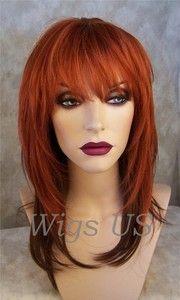 Wigs 2 Tone Rich Henna Red Tipped with Deep Auburn wig | eBay