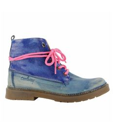 Look what I found on #zulily! Blue Esty Canvas & Leather Boot #zulilyfinds