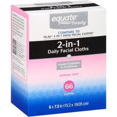 Equate Hydrating Cloths Everyday Facial 60 CT - Walmart.com