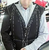 Tailored suit being made