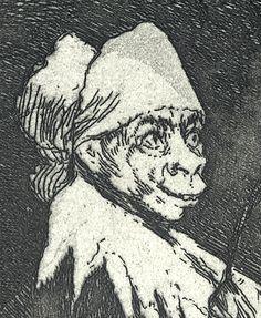 Closeup of a Goya aquatint etching Fine Art Prints, Tattoo Ideas, Characters