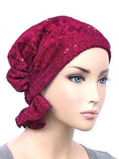 187ff4039b2 Chemo Cap  The Abbey Cap in Peachy Pink w Golden Shimmer – Chemo Fashion