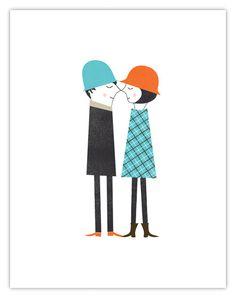 blanca gomez, coupl print, art, poster, inspir, cards, illustr, blanca gómez, thing