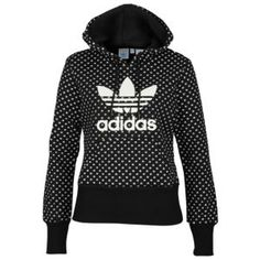 adidas Trefoil Lips Pullover Hoodie - Women's - Casual - Clothing - Black/ White