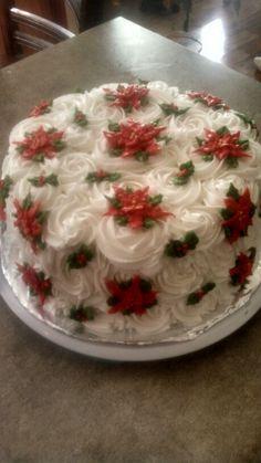 Poinsetta cake