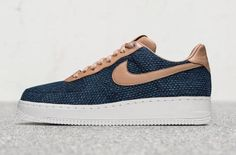 The Nike Air Force 1 Low Aizome Features A Hand-Dyed Indigo Upper