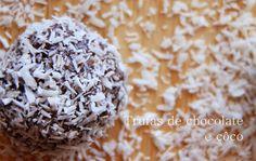 A Cozinha da Ovelha Negra: Trufas de chocolate e côco