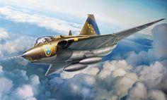 Saab S-35E Draken (T. Hoshino, Hasegawa box art)