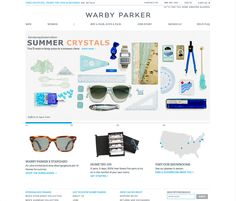 Simple clean website design and unique business model http://www.warbyparker.com/
