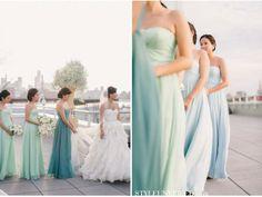 bridesmaids,mermaid theme wedding