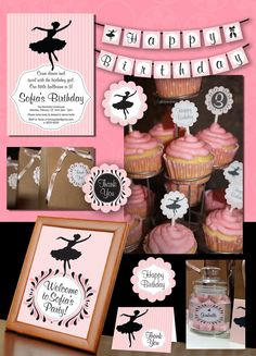 Ballet Deluxe Collection for Printables by SassyPartyDesigns, $28.00