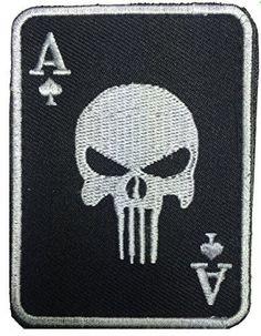 Patch Squad Men's Black Ace of Spade Death Dead Man's Hand Morale Patch