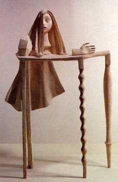 Surrealistische tafel ~ 1933 ~ Brons ~ 143 x 103 x 43 cm. ~ Musée National d'Art Moderne, Centre Georges Pompidou, Parijs ~ © The Estate of Alberto Giacometti (Fondation Giacometti, Paris and ADAGP, Paris), licensed in the UK by ACS and DACS, London 2016