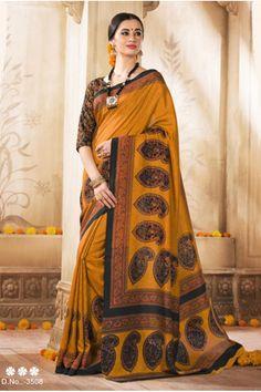 Ethnic Wear Yellow Silk Saree  - VARSIDDHI-3508