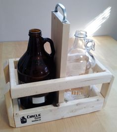 Quick Silver Handle- Growler carrier made to hold and tote two beer growlers. on Etsy, $24.99