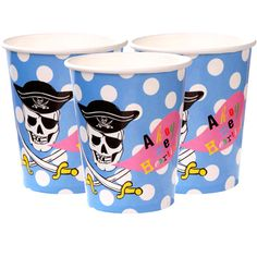 pirate party paper cups 256ml £2.69 8pk