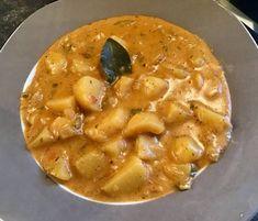 Burgonyafőzelék Cheeseburger Chowder, Thai Red Curry, Soup, Keto, Ethnic Recipes, Soups