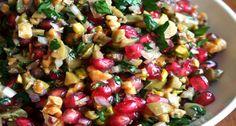 Green Olive, Walnut & Pomegranate Salad
