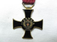 Croce per XI armata, marcata Mori per il fronte Greco Albanese, nastrino coevo come da foto.
