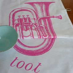 Your place to buy and sell all things handmade Greek Meaning, Sousaphone, My Beautiful Daughter, Cellophane Bags, Toot, Pink Candy, Brighten Your Day, Tea Towels, Paper Shopping Bag