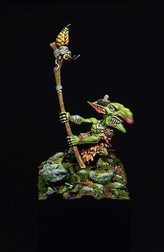 Morbag the goblin by Blabla Sculpture Art, Sculptures, Warhammer 30k, Game Workshop, Fantasy Miniatures, Toy Soldiers, Minis, Sculpting, Diy And Crafts