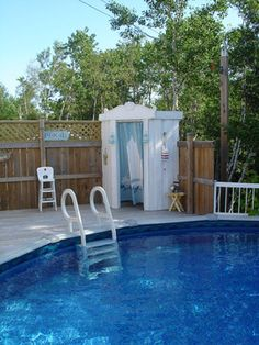 wish I could diy this for my pool area. Swimming Pool Decks, My Pool, Pool Cabana, Pool Fun, Above Ground Pool Decks, In Ground Pools, Jacuzzi, Lavabo Exterior, Piscine Diy