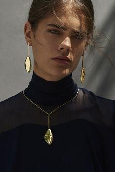 Calder Drop Earrings - from @bingbangnyc's BLACK LABEL SS17 collection