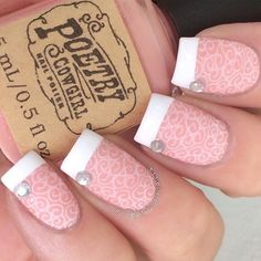 Elegant manicure by the fabulous @dripdropnails. Jessica is using our French Tip Nail Vinyls found at snailvinyls.com. Our HUGE Sale is still going on. Ends Sunday, use code STENCILME for 20% off + Free Stencil Variety Pack ($19.99 value) w/all $25 orders