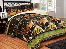 All American Collection New Super Soft and Warm 3 Piece Deer Borrego/Sherpa Blanket Palazzo Full/Queen