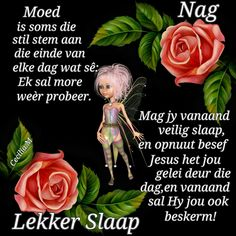 Good Night Blessings, Good Night Wishes, Evening Greetings, Goeie Nag, Goeie More, Special Quotes, Sleep Tight, Afrikaans, Qoutes
