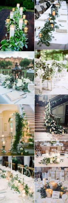 how to add candle lights into your greenery weddings