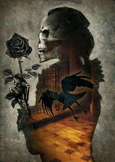 """Edgar Allan Poe """"Nevermore"""""""