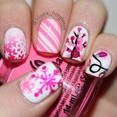 Nails Art Thats Real Beauty Pink Christmas