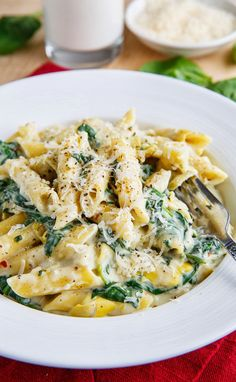 ingredients 8 ounces penne 2 tablespoons butter 1 onion, diced 2 cloves garlic, chopped 3...