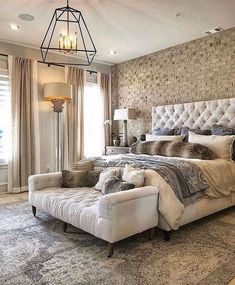 This is a Bedroom Interior Design Ideas. House is a private bedroom and is usually hidden from our guests. However, it is important to her, not only for comfort but also style. Much of our bedroom … Room Design Bedroom, Home Decor Bedroom, Bedroom Designs, Brick Wall Bedroom, Marble Bedroom, French Bedroom Decor, Fall Bedroom, Bedroom Retreat, Bedroom Rustic