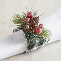 26 Best Christmas Napkin Rings Images In 2019 Napkins Christmas