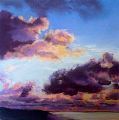 """Red Sky At Morning"" - Original Fine Art for Sale - © Jill Bates pastel on sanded paper"