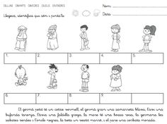 fitxes lectoescriptura cicle inicial - Cerca amb Google Worksheets, Comics, School, Google, Families, Frases, Home, The Family, Reading Comprehension