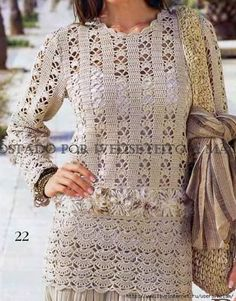 Patterns Crochet:  Tunic with diagrams