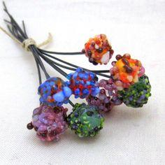 Fruits of  Summer Handmade Lampwork Bead Headpins by rosebud101, $16.00