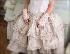 madeleine lee wears ewa i walla silk skirt and top in powder pink detail