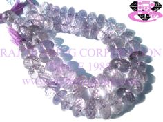 Pink Amethyst Faceted Roundel (Quality A+) Shape: Roundel Faceted Length: 18 cm Weight Approx: 30 to 32 Grms. Size Approx: 10 to 12 mm Price $36.60 Each Strand
