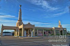 Shamrock, Texas, Route 66, vintage, gas station