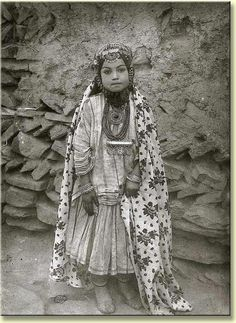 Images of Persia - Antoin Sevruguin Hopefully this image from 1870 is of a Jewish girl on a celebration day, NOT a wedding day. Note the layered jewelry and coins and the patterned scarf/robe