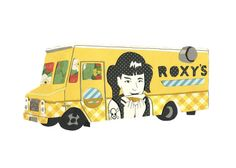 Roxy's Grilled Cheese 5x7 print  Boston Food Truck by lindenleaf, $12.00
