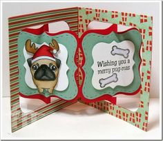 Frances Byrne using the Bigz Accordion Album, Bigz Frame & Label, Bracket and Labels & Stitched Frames Framelits for this adorable card.
