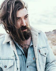 Lane Toran - full thick dark beard mustache beards bearded man men mens' style fashion clothing #beardsforever