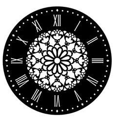 Plantilla de stencil para decorar relojes. Flor, es el modelo con el que está hecho el reloj azul del tablero.