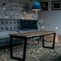 This coffee table uses its industrial charm and an attractive rustic element perfectly combines the warm wood tones surface and Thickened metal frame. Allow you to get rustic elegant and durable living room furniture Coffee Table Design, Rustic Elegance, Rustic Industrial, Rustic Design, Living Room Furniture, Dining Bench, Surface, Layout, Warm